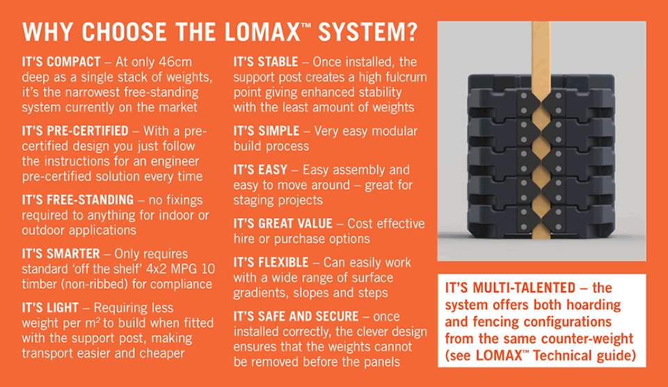 Why choose lomax hoarding fencing system