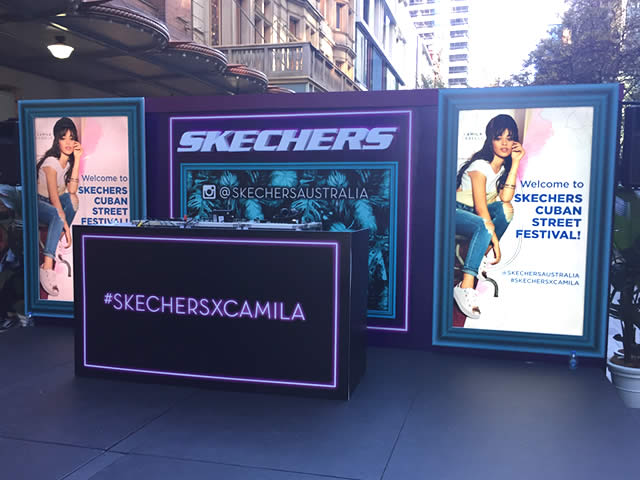 Skechers advertising hoarding