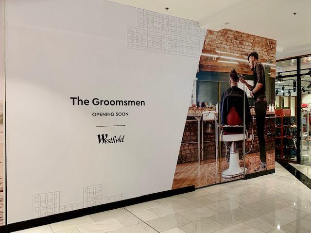 groomsman shop hoarding